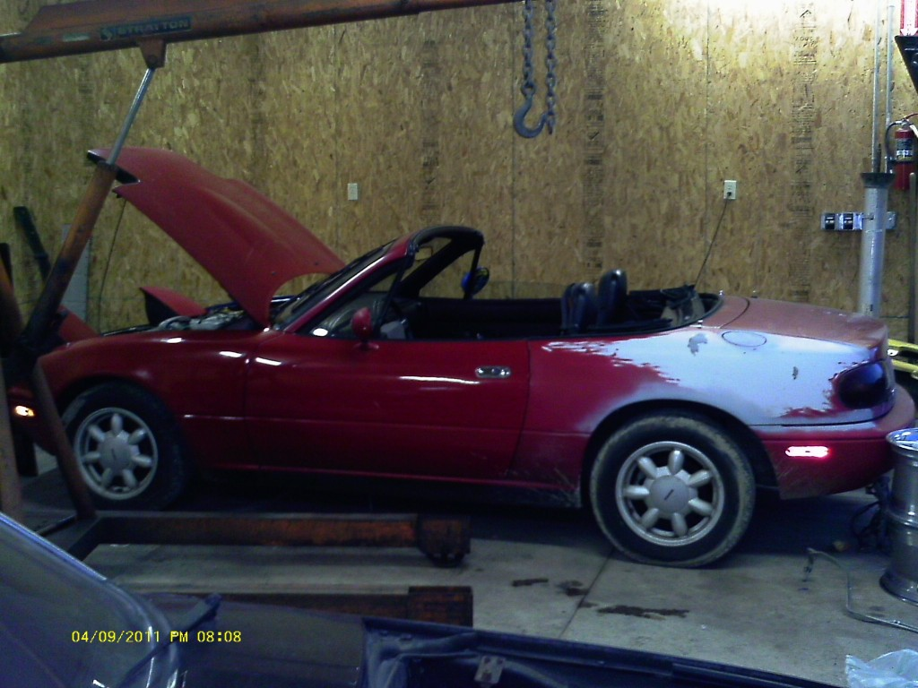 This 1990 Miata will be parted out and the parts will be featured on eBay.